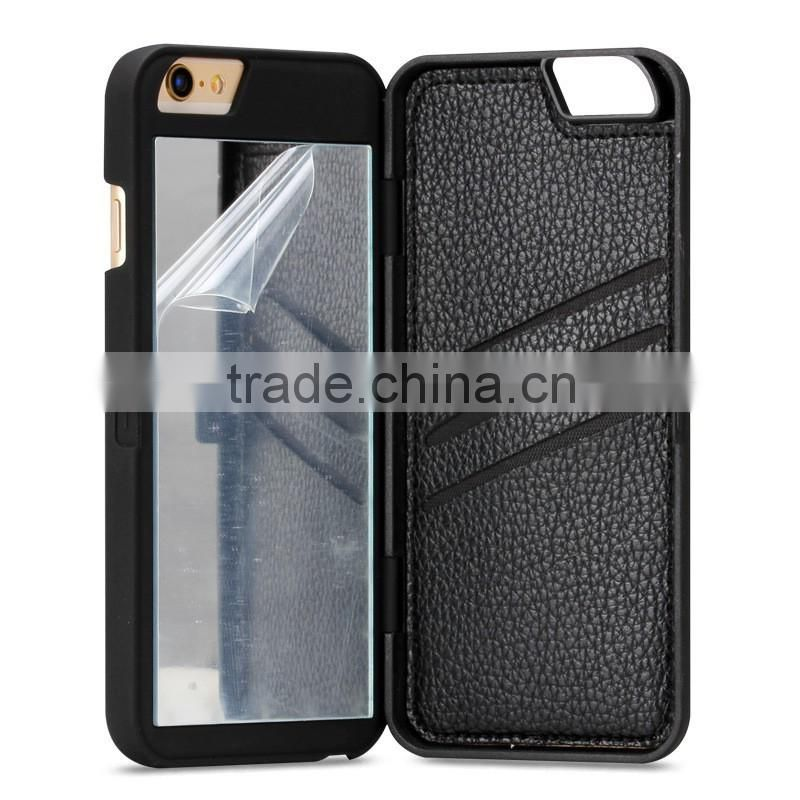 Mirror for iphone 6 case ,for card slots iphone 6s case, Scratch-Resistant for iphone 6 Plus case