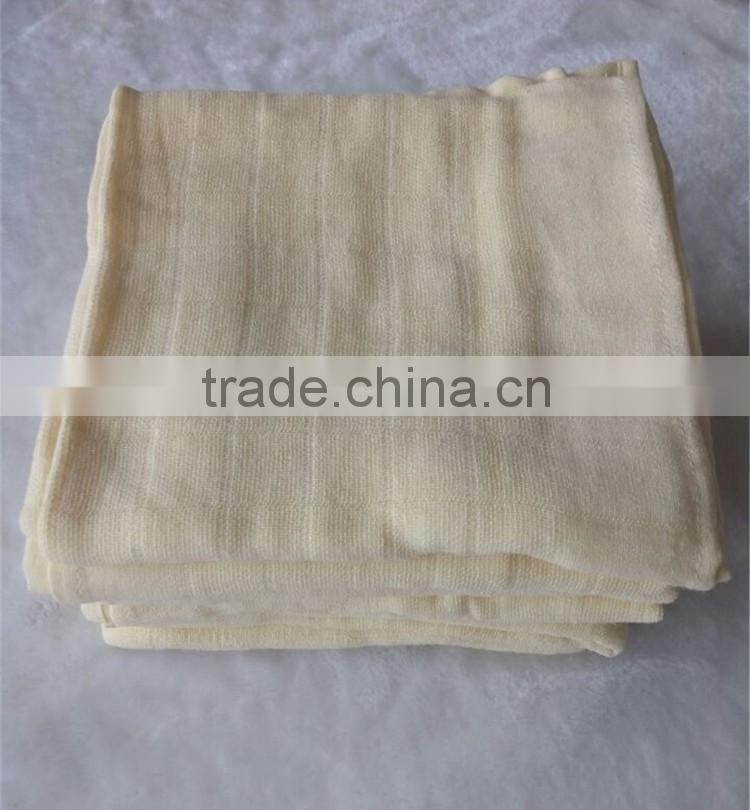 80*80cm super soft and gas permeability 100% cotton baby disapers cloth China supplier wholesaler