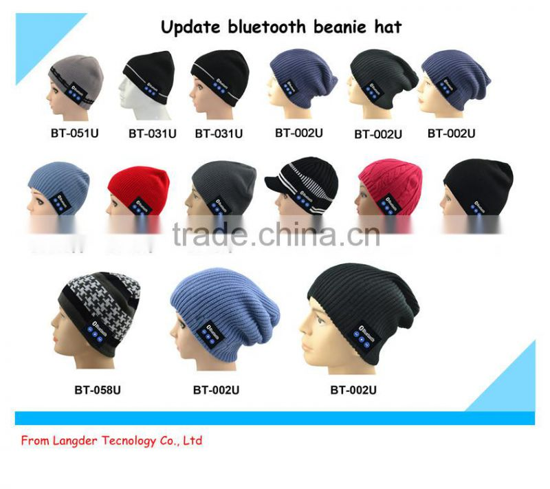 2014 new design high quality beanie caps music christmas hat