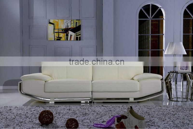 2015 Latest living room high end Italy leather modern sofa SF012