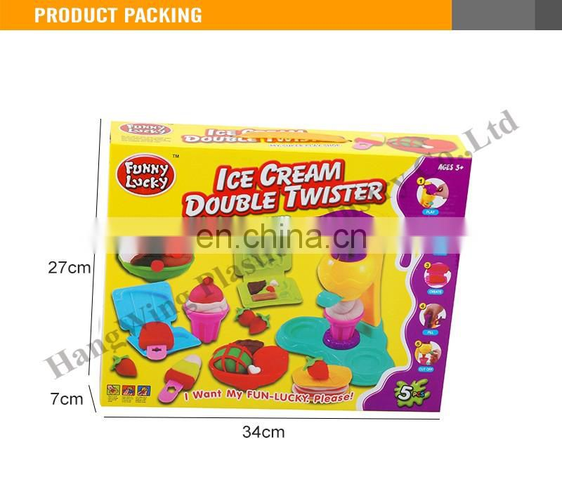 5 pcs funny ice cream double twister dough toy