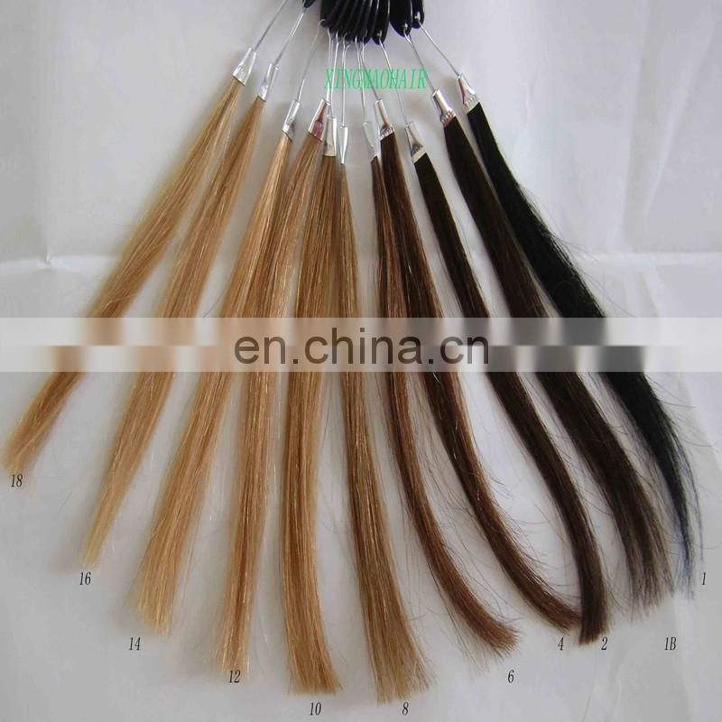 Heze xingmao hair factory hair color chart wholesale price 100 percent real human hair color ring