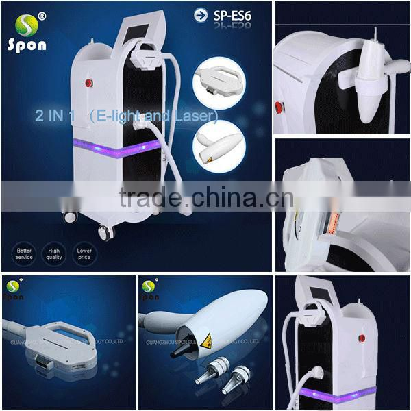 Professional Elight SHR IPL machine permanent hair removal / IPL machine with big spot / SHR IPL machine for home use