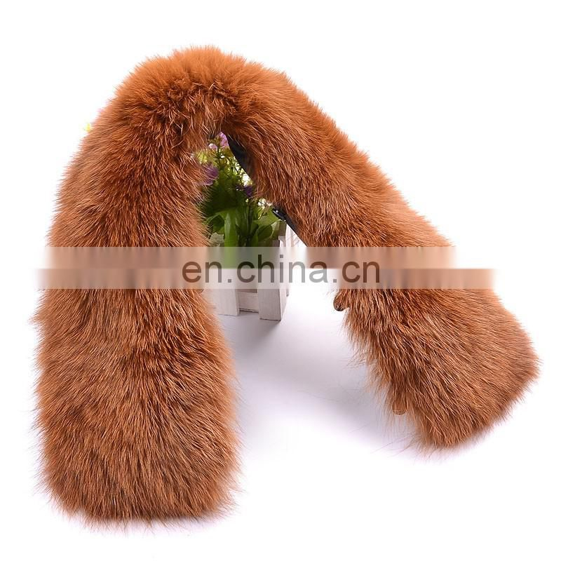 Top grade hand made fox fur neck warmer collar wholesale China
