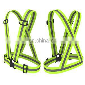 Attracitve and Brigh Yellow Sports Reflective Safety Belt with Adjustable Buckles