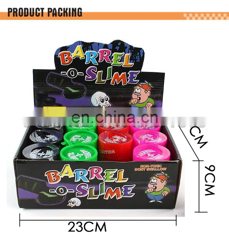 2016 Hot popular Product Safety 12pcs barrel o slime