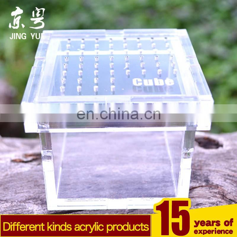 China handmade mini cube acrylic scorpion mesh reptile cage