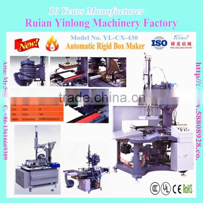 YL-CX-420 Automatic Rigid Box Maker/Business card box making machine ...