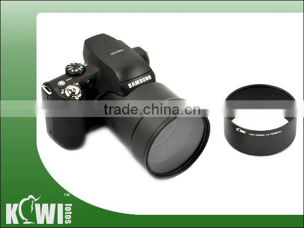 Kiwifotos Lens adapter tube LA-72WB5000 provides 72mm filter mount for for Samsung WB5000 (Two 72mm)