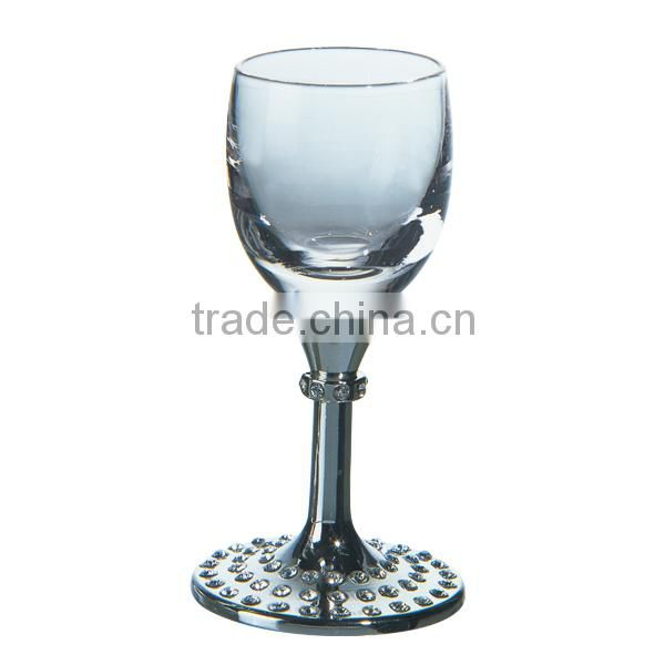 high quality shot glasses lead free crystal wine glasses set short metal stem and white wine glass shiny crystals whisky goblet