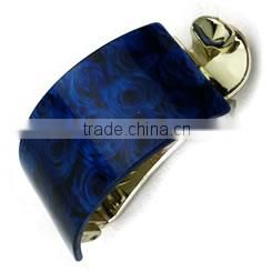 blue rose flower acrylic hair clamp claws