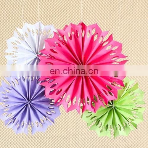 Novel Wedding Decoration DIY Colorful Pinwheel Paper Fan