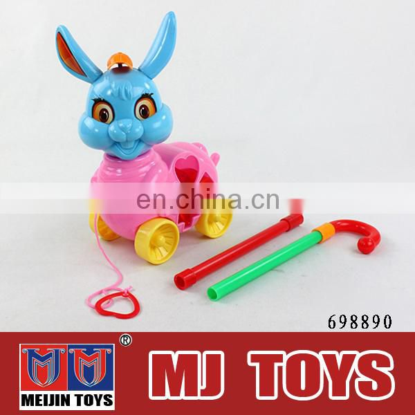 wholesale toy from china push and pull rabbit toy plastic farm animal toy