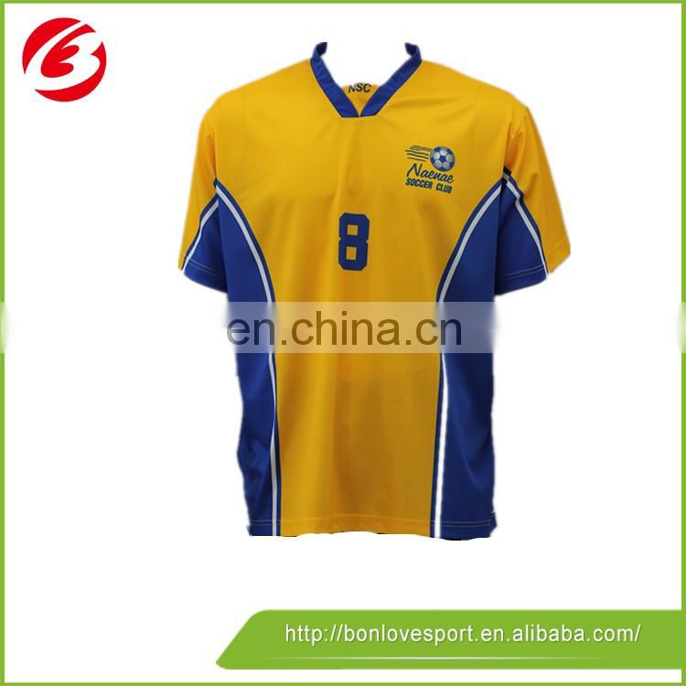 China sublimated football clothing men's striped soccer jersey