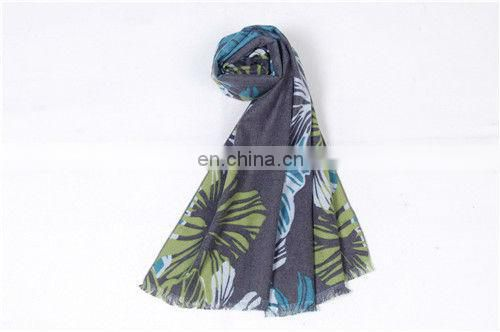 Flower patterns silk women's scarf