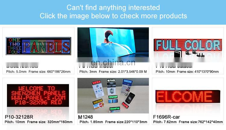 LANPAI top quality outdoor P10 used led signs ticker sale