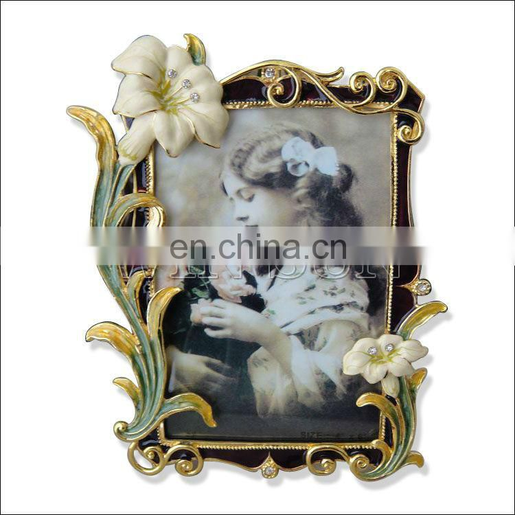metal baby mini photo frame for children