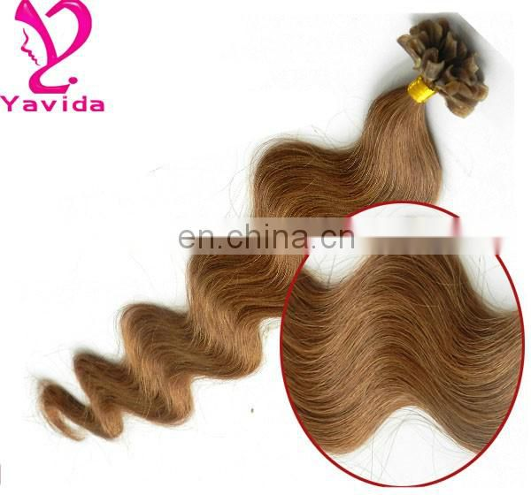 new products high quality Best Quality indian remy hair huamn hair extension flat tip hair colors