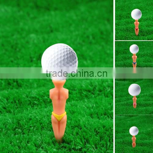 6Pcs 80mm Novel Bikini Male Golf Tees Male Model Golf Tees Divot Tools