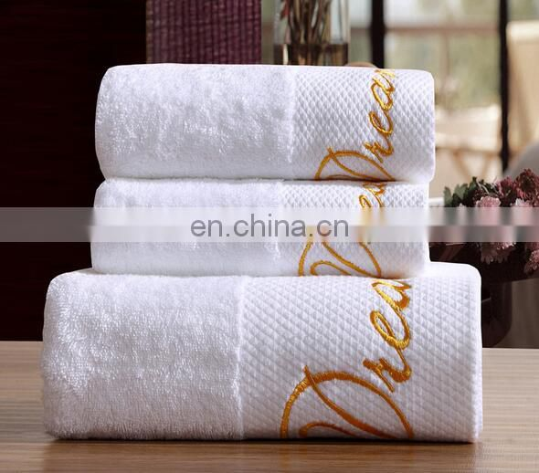 Luxury Hotel Custom Logo Cotton Bath Towel Hand Towel Face Towels