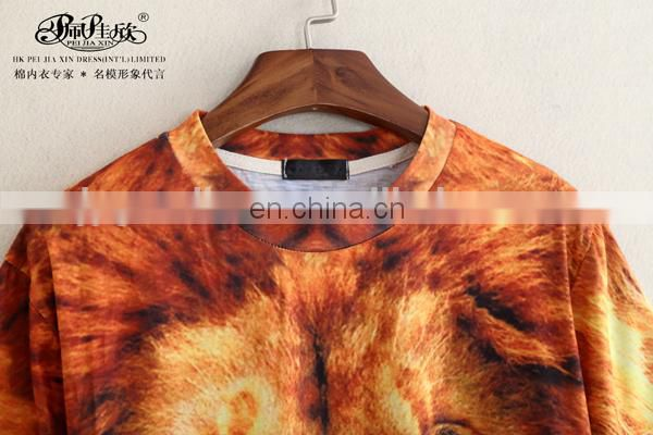 Peijiaxin Fashion Design Casual Style 3D OEM Clothes Printing T shirt