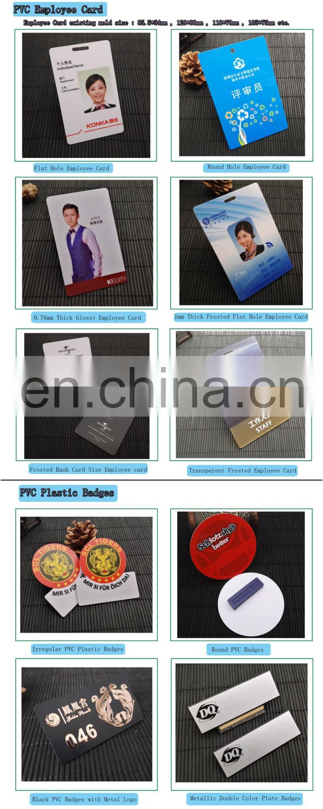 ABS Plastic Engravable Name Badge With Full Color Logo Printed