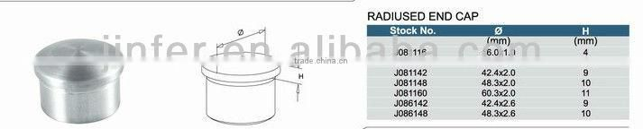 SS/stainless steel pipe end cap/Stainless steel Radiused End Cap