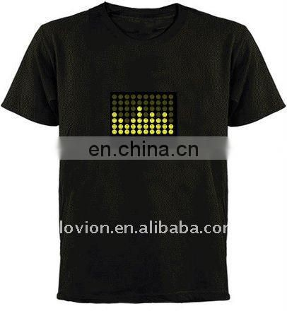 el flashing t-shirts voice activated el t-shirt el animated flashing t-shirt