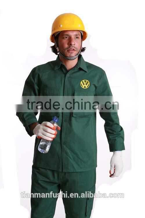 2015 Dark Green Automotive Workwear Suit Cheap Popular Quality Customed OEM Factory Workwear