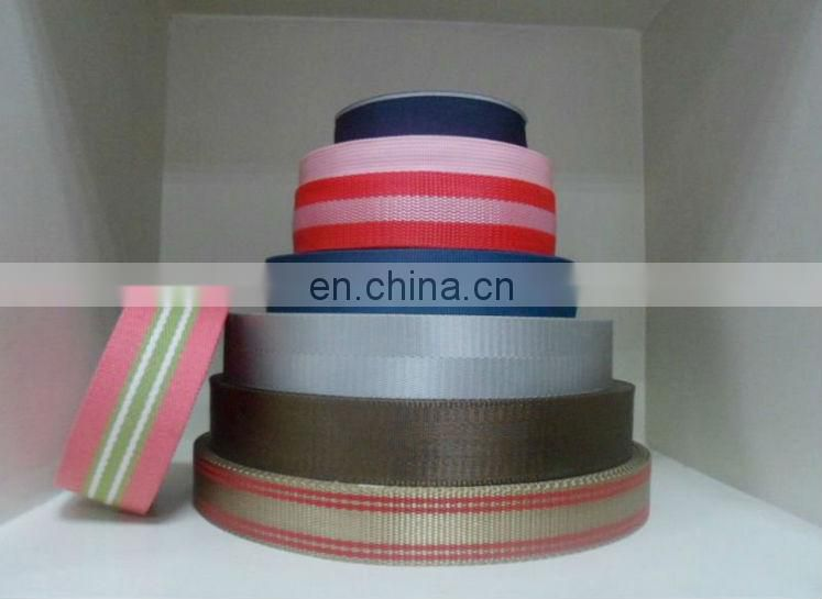 Wholesale inelasticity high strength polyester webbing