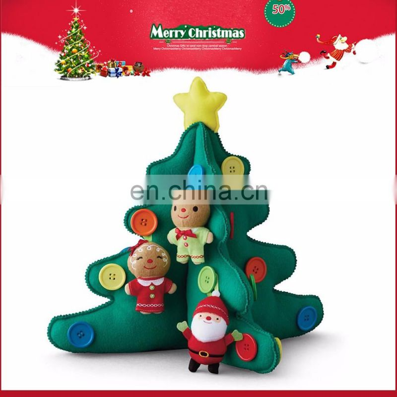 2016 China wholesale factory export tree plush toys Christmas decoration