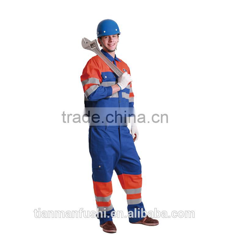 2015 Quality Reflective Automotive Workwear Suit Customed OEM ODM Uniforms High Visibility Split Working Clothes
