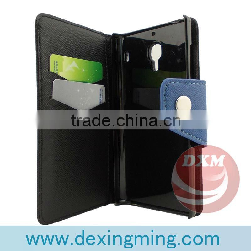 new arrived leather protective cases for the MIUI M3 with wallet and card holders mobile phone accessories