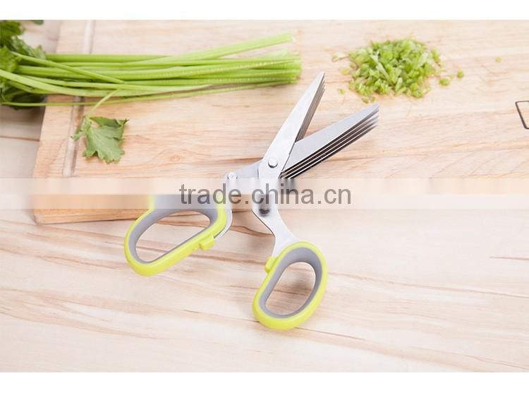 Amazon Best Seller Multipurpose Herb Shears with 5 Stainless Steel Blades and Cover