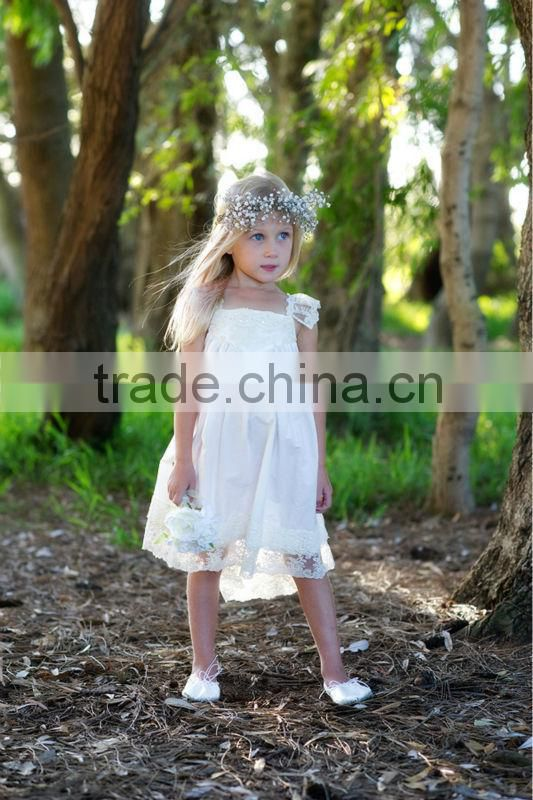 2015 giggle moon remake white lace shirt christmas stocking set baby girls long top dress fashion design small girls dress set