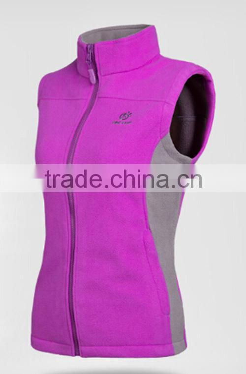 Professional Manufacturer and Exporter of ladies sleeveless windstopper polar fleece jacket double brushed double anti-pilling