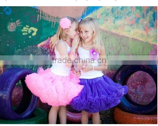 Sweet Design Little Girls First Birthday Outfit Newborn Baby Chiffon Solid Lavender Photo Prop Tutu Ruffle Pettiskirt