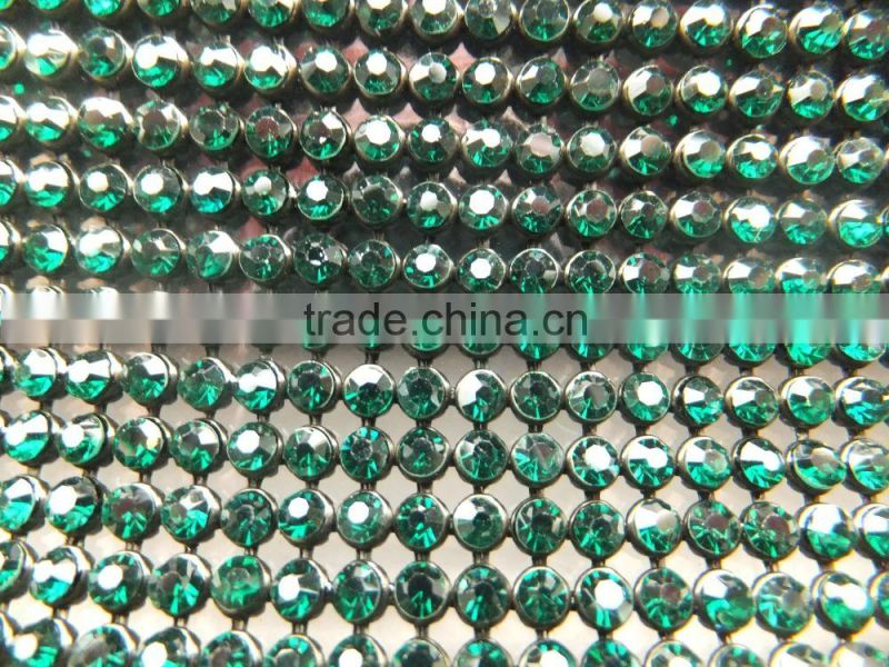 Crystal strass Mesh with Black Base for Garments Decoration