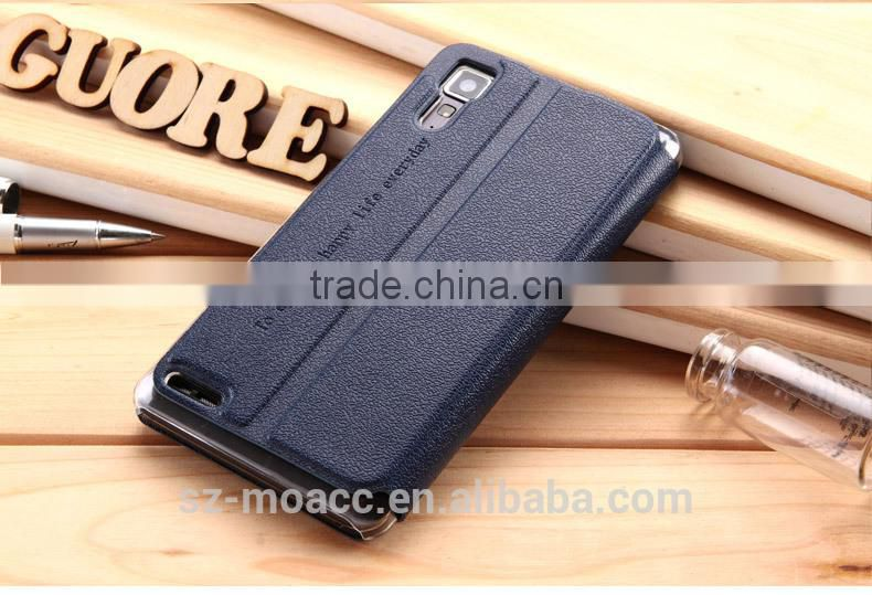 New Arrival View flip leather case cover for lenovo p780