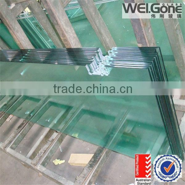 AS/NZS 2208 12mm thick toughened glass for door