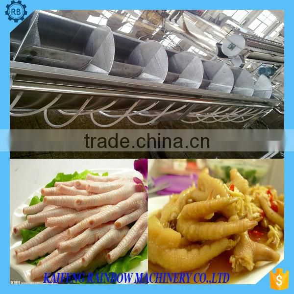 New Commercial Chicken Paws/Feet Decorticator/Peeler Machine