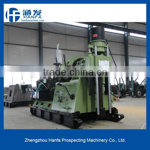 High efficiency multi-function core sample drilling rig for selling!HF-44A trailer mounted core drilling rig