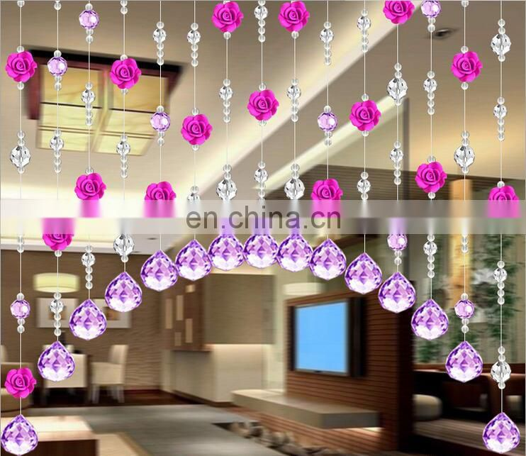 Wedding Party Decoration Clear Acrylic Crystal Bead Curtain Garland Strands DIY Craft Christmas Tree Hanging Ornament