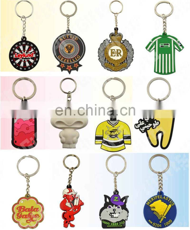 Cheap custom pvc reflective keychains