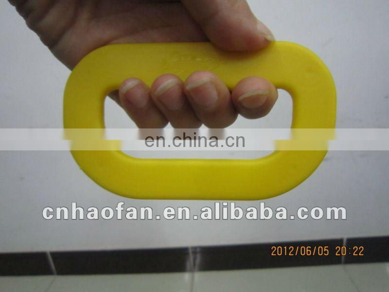 recycled plastic handle for carrying cardboard box