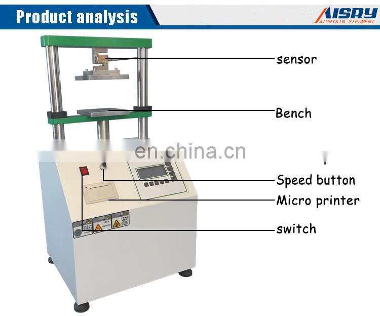 Hot Selling Product Paper Tube Compression Strength Tester Paper Tube Compressive Strength Testing Machine