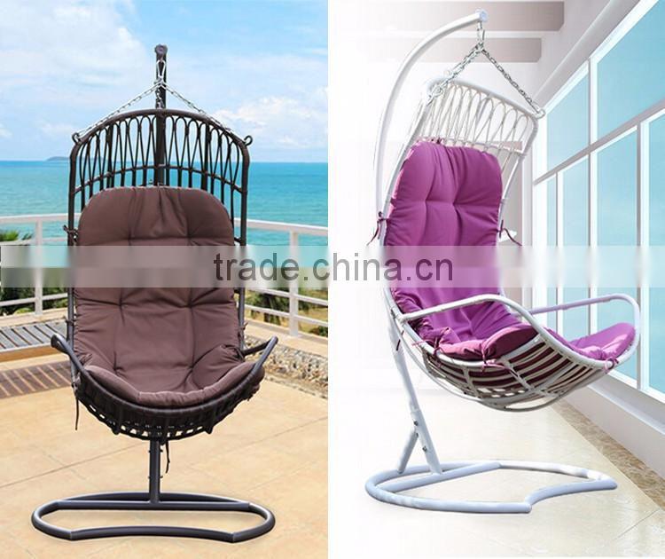 Modern Rattan Wicker Furniture Indoor Indian Swing Hanging Chairs