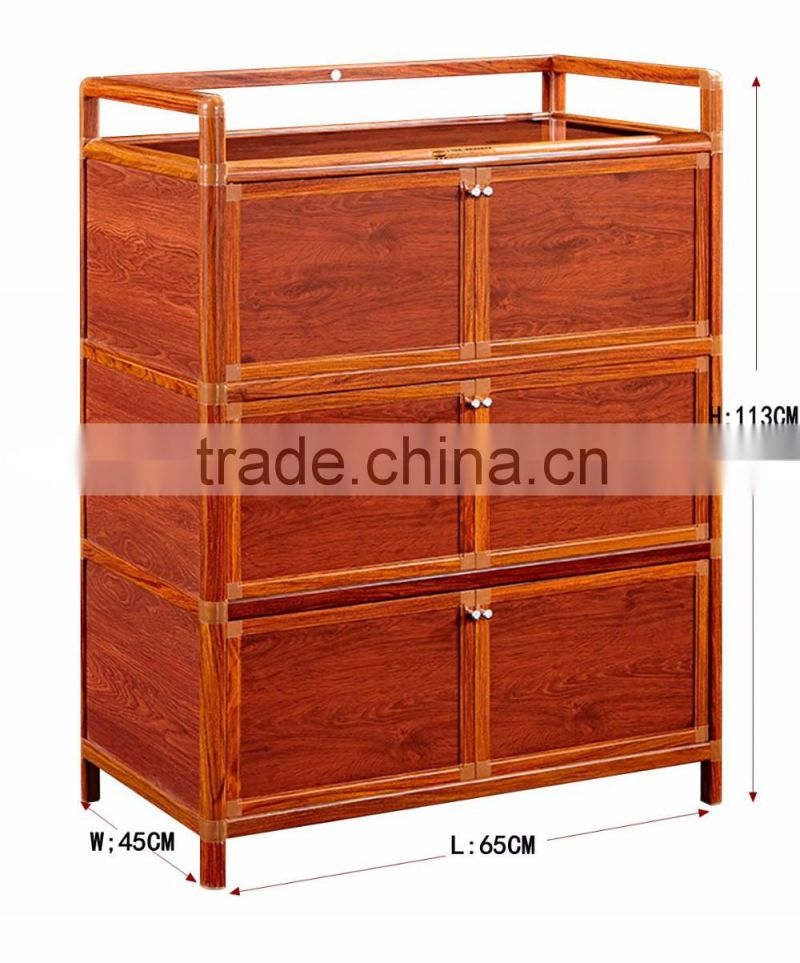 Factory directiy modern simple kitchen cabinet with aluminum frame glass wall cabinet doors