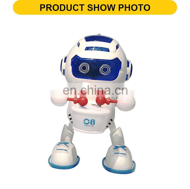 2017 Popular battery operated robot Children early education light and music robotics kits for kids