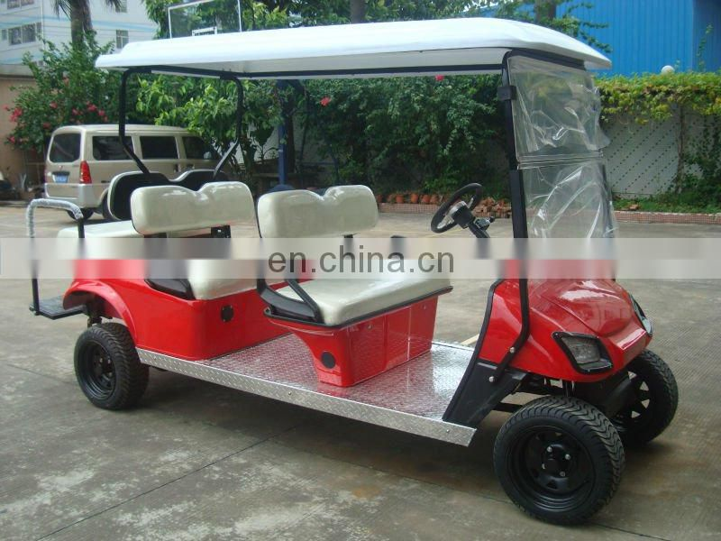6 seater golf cart sightseeing car hotel passanger bus